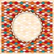 Retro Geometric Rhombus Card — Vettoriale Stock #12294882