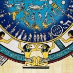 Zodiac On Papyrus — Stock Photo