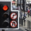 Traffic light at road junction — Stock Photo