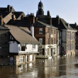 City of York floods - Stock Photo