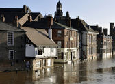 City of York floods — Stock Photo