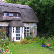 Stock Photo: Thatched cottage