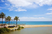 Beach and Sea on Costa del Sol — Stock Photo