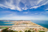 Gibraltar Airport Runway and La Linea Town — Stock Photo