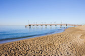 Beach Pier and Sea in Marbella — Stock Photo