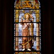 Stained Glass Window in SJeronimo el Real — Stock Photo #11538320