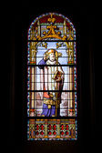 Archbishop on Stained Glass Window — Stock Photo