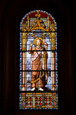 Stained Glass Window in San Jeronimo el Real — ストック写真
