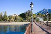 Pier in Marbella — Stock Photo