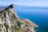Gibraltar Rock by the Mediterranean Sea — Stock Photo