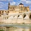 Royalty-Free Stock Photo: Mezquita Cathedral and Roman Bridge in Cordoba