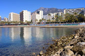 City of Marbella Bay in Spain — Stock Photo