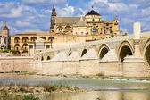 Mezquita Cathedral and Roman Bridge in Cordoba — Stock Photo