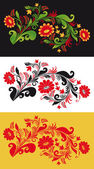 Traditional Russian Ornament in three versions in vector — Stock Vector