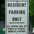 Stock Photo: Residents Only Sign