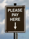 Pay Here Sign — 图库照片