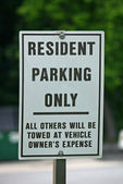 Residents Only Sign — Stock Photo