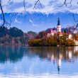 Bled with lake, Slovenia, Europe — 图库照片