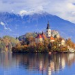 Bled with lake, Slovenia, Europe — Zdjęcie stockowe