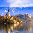 Bled with lake, Slovenia, Europe — Stock Photo