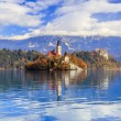 Bled avec lac, Slovénie, europe — Photo