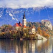 Bled with lake, Slovenia, Europe — Foto Stock
