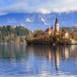 Bled with lake, Slovenia, Europe — Stok fotoğraf