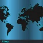 Vector World Map — Stock Vector #12208491