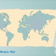 Vintage World Map — Stock Vector