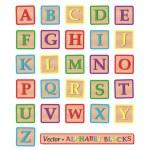 Alphabet Blocks — Stock Vector