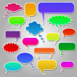 Colorful Chat Bubbles — Stock Vector