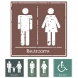 Retro Restroom Signs — Stock Vector