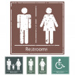 Retro Restroom Signs — Stock Vector #12208733