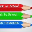 Stock Vector: Back to School Colored Pencils