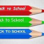 Back to School Colored Pencils — Stock Vector