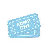 Admit One Ticket — Stock Vector