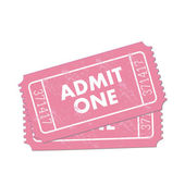 Pink Admit One Ticket — Stock Vector