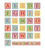 Alphabet Blocks — Stock Vector