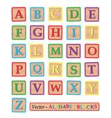 Blocchi alfabeto — Vettoriale Stock