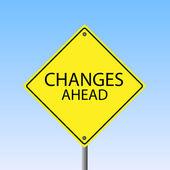Changes Ahead — Stock Vector