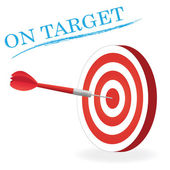 On Target — Stock Vector