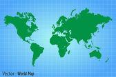 Mapa świata — Wektor stockowy