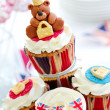 Stock Photo: Royal Jubilee cupcakes