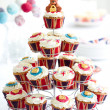 Royal Jubilee cupcakes - Stock Photo