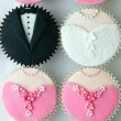 Wedding party cupcakes - Stock Photo