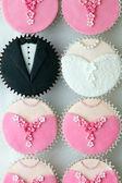 Bruiloft partij cupcakes — Stockfoto