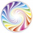 Abstract frame of the spiral curled rainbow spectrum — Stock Vector #11005876