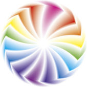 Vector illustration. Color wheels — Stock Vector