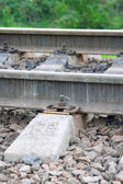 The rails and sleepers — Stock Photo