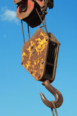 Hook a construction crane — 图库照片
